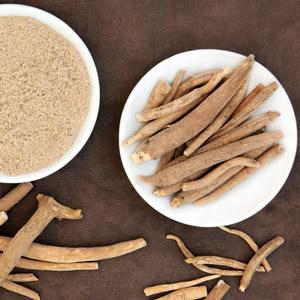 ashwagandha roots and powder