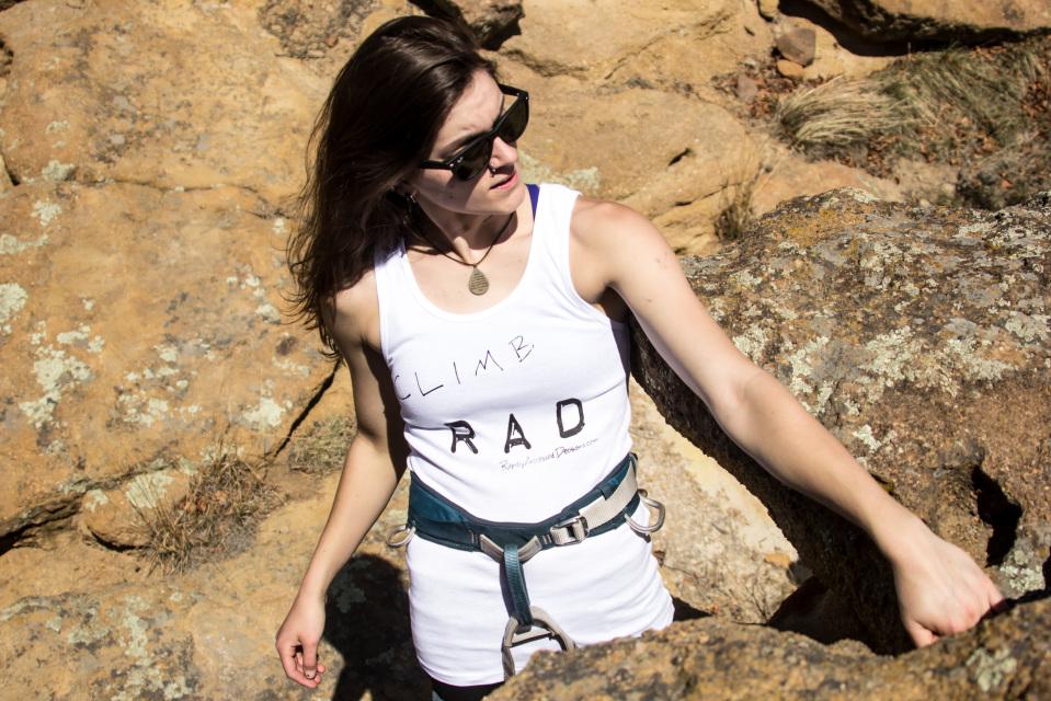 RAD summer tank - rock climbing