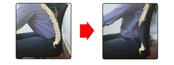 correcting posture with posture kush