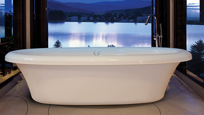 Bello Freestanding whirlpool hydrotherapy bathtub