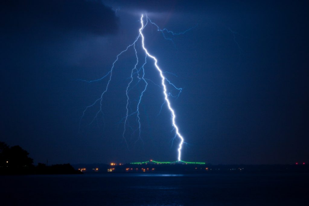 negative ion formation after a lightening